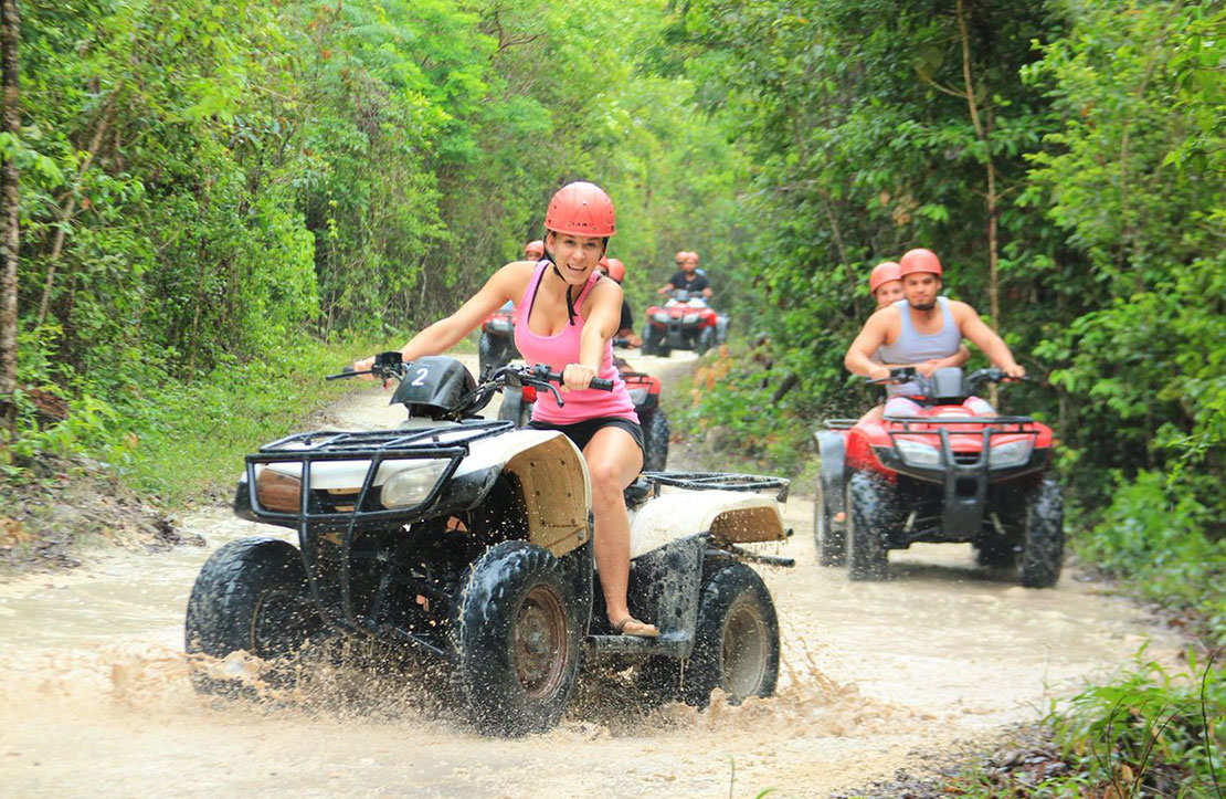 3x1 Combo Zipline, ATV shared and Cenote    Cancun City & Tours